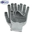 NMSAFETY 7 jauge d'eau de Javel polycotton chaîne tricoté gant pvc gants à pois