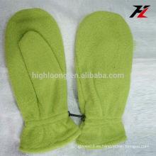Mitones de precio bajo guantes de lana verde para besties