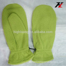 Bottom price mittens green fleece gloves for besties