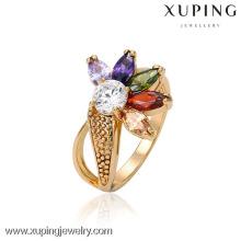 13270 Gros charmes Xuping Fashion femme 18 carats plaqué or fleur