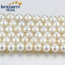 Decoration Freshwater Loose Pearl Strand 7mm AA- White Round Pearl String
