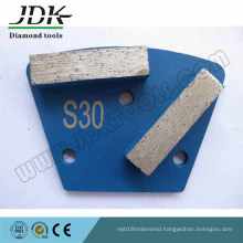Double Rectangle Diamond Segments Concrete Grinding Pads