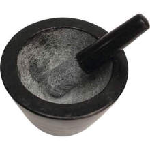 Mortar and Pestle Set Made of Solid Granite