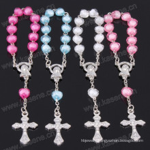 Mixed Colours Heart Plastic Bead Chain Types of Catholic Decade Rosary