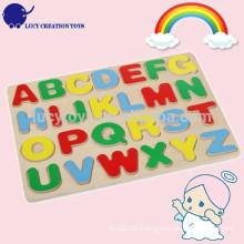 Kinder pädagogisches hölzernes Alphabet Puzzlespiel-Spielzeug