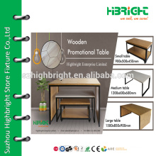 Hot sale wood flooring table display rack