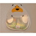 Organizador do brinquedo do banho do bebê que pendura o suporte do brinquedo do banho para a cuba com os 2 copos fortes da sucção e o grande saco do armazenamento do brinquedo do banho