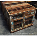 Recycled Wooden Sideboard Iron Jali Panel