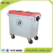 Escaninho de lixo plástico ao ar livre Eco-Amigável 660L