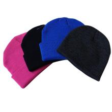Пользовательские унисекс равнине пустой шапочка вязать шляпа черепа зимняя шапка, оптовая равнина акриловые дешевые равнины шапки, шапочка вязать шляпу