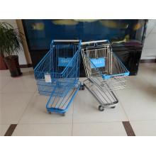 Supermarkt-Einkaufslaufkatze / Einkaufswagen / chromierte Handlaufkatze