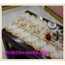 Cheap Price PVC Printed Long Lace Table Runner Factory