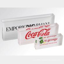 Solid Acrylic Block Brand Logo Sign Block Display