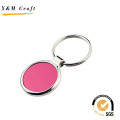Beautiful Butterfly Shape Metal Keyring with Yellow Color (Y02630)