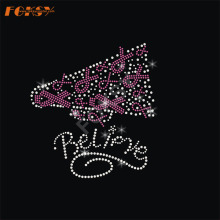 Believe Pink Ribbon Iron on Rhinestone Motif