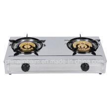 Cuisinière à gaz 2 brûleurs 120-145 en acier inoxydable