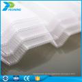 Material de policarbonato durável de parede dupla telhado ondulado