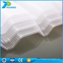 Folha de cobertura de policarbonato transparente ondulado de vendedor quente pc
