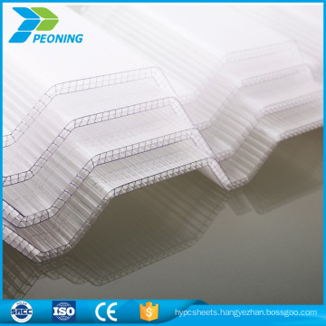 Hot seller pc corrugated transparent polycarbonate roofing sheet