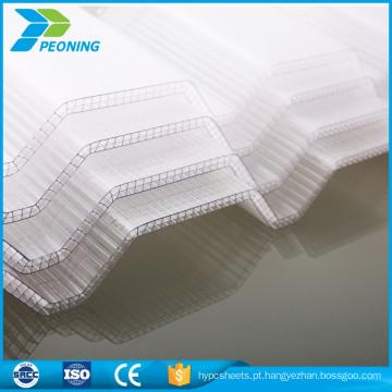 Folha de Sunroom Folhas de cobertura de plástico ondulado leve e leve