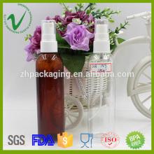 Transparente perfume vacío ronda 120ml spray botella de PET para el embalaje de cosméticos