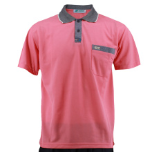 Warna Pepejal Warna Peach T-Shirt of Man