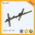 MB629 Antique brass letter alphabet logo metal for bag