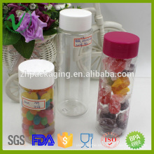 250ml botella al por mayor del cigarrillo del plástico claro del animal doméstico