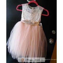 Cheap 2017 Baby Girl Party Dress Enfants Frocks Designs Peach Flower Girl Dress Plissée Wedding Party