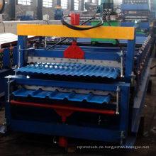 Volle automatische Goldlieferant-heiße Verkaufs-Doppelschicht-Platten-trapezoide gewölbte IBR-Schritt-Fliesen-Blatt-Rolle, die Maschine bildet