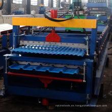 Rollo de perfil doble de acero que forma la máquina / rollo de doble capa
