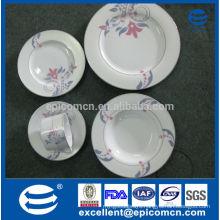 2015 new dubai ceramic dinnerware sivler plates