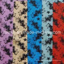 Impresión de cuero especial Accesorio del flash del PVC Tela de embalaje / tela del brillo