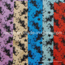 Impression en cuir spécial en PVC Accessoires en tissu d'emballage / Tissu Glitter
