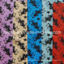 Special Leather Printing PVC Flash Accessory Packing Fabric / Glitter Fabric