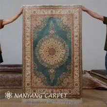 3.3'x5' Traditional Design Silk Tabriz Carpet