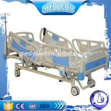 Medical adjustable electric ICU bed with three functions