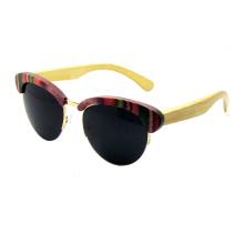 Design atraente óculos de sol de madeira (sz5686-2)