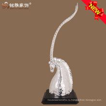 полистоуна серебристого цвета голова антилопы скульптуры для украшения стола