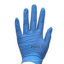 Luvas descartáveis azuis de nitrila