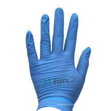 Blue disposable gloves nitrile