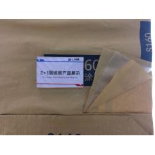 Material químico Forro de plástico Papel Cemento Bolsa