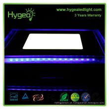 Dimmable cor dupla 12w levou painel luz quente branco + azul rodada recesso teto painel luzes lâmpada para quarto