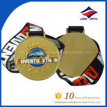 Custom e design round forme aventura ouro medalhas universitárias