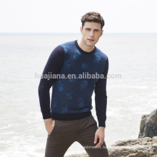 Inner Mongolia cashmere men's crewneck sweater