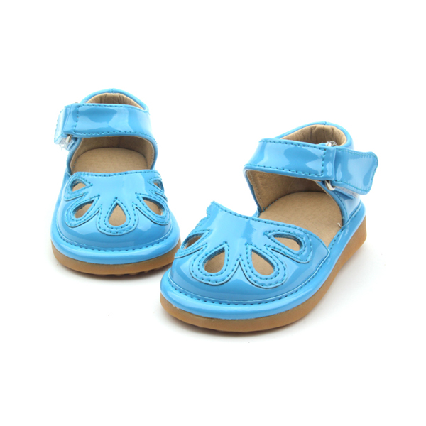Wholesale Children Shoes Fancy Blue Kids Squeaky Shoes