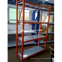Étagères de rangement / affichage en acier laminé à froid à usage léger pour étagères d'entrepôt ménager / industriel