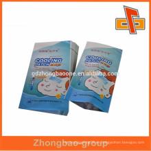 Fabricantes de China 3 lado de papel de aluminio bolsa de sello de calor con alta calidad para refrigerar la hoja de gel