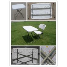 2.5ft HDPE Blow Molding Mesa Ajustável, Plastic Folding Pequena Mesa de piquenique, mesa de estudo, mesa para laptop, mesa de café, tabela barata ao ar livre leve para evento