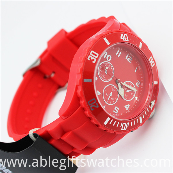 ice red color watches